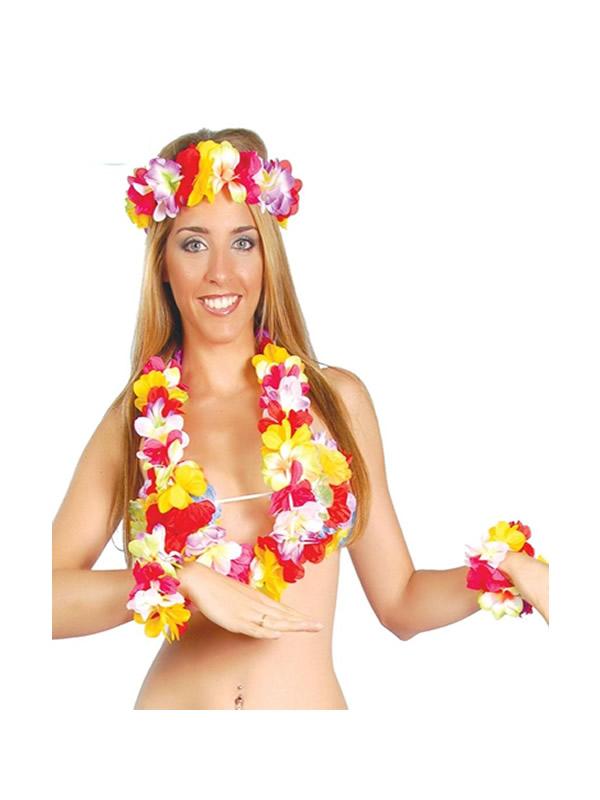 conjunto colorido hawaiano extra