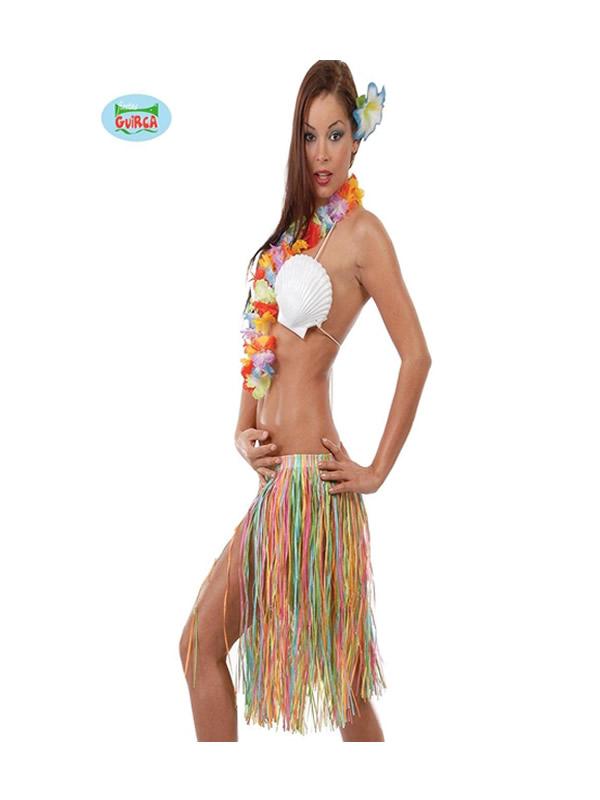 conjunto hawaiano multicolor 3 piezas