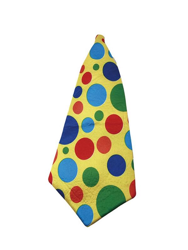 corbata gigante de payaso lunares de 56 cm