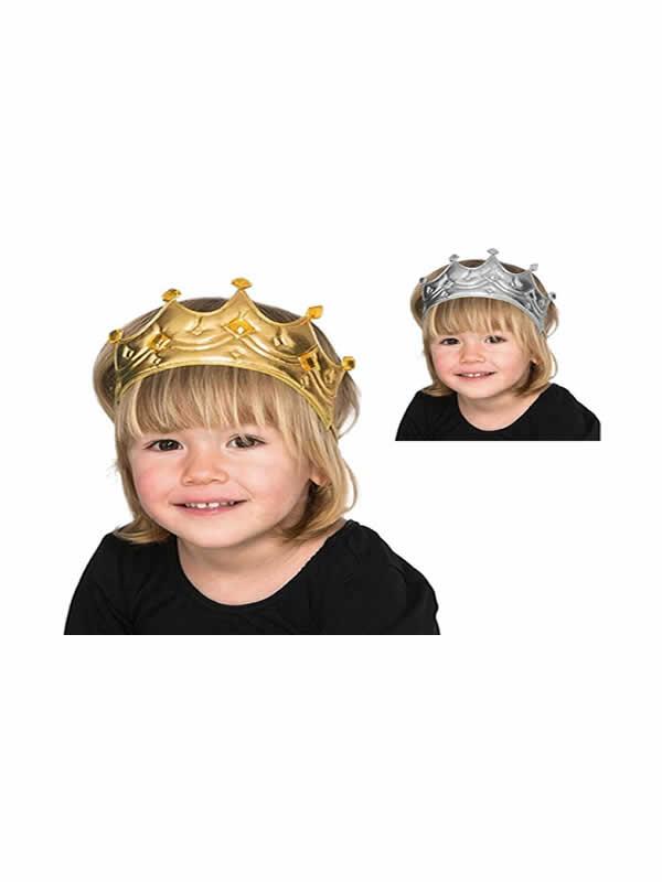 corona de rey en varios colores para niños