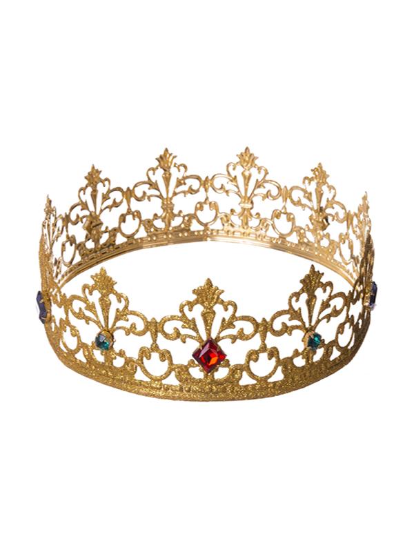 corona de rey mago dorada