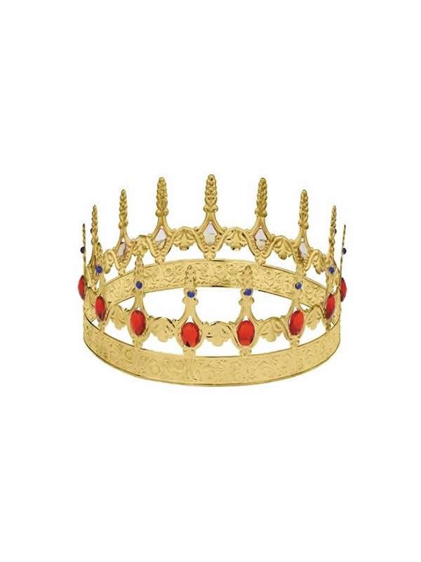 corona dorada de rey metal