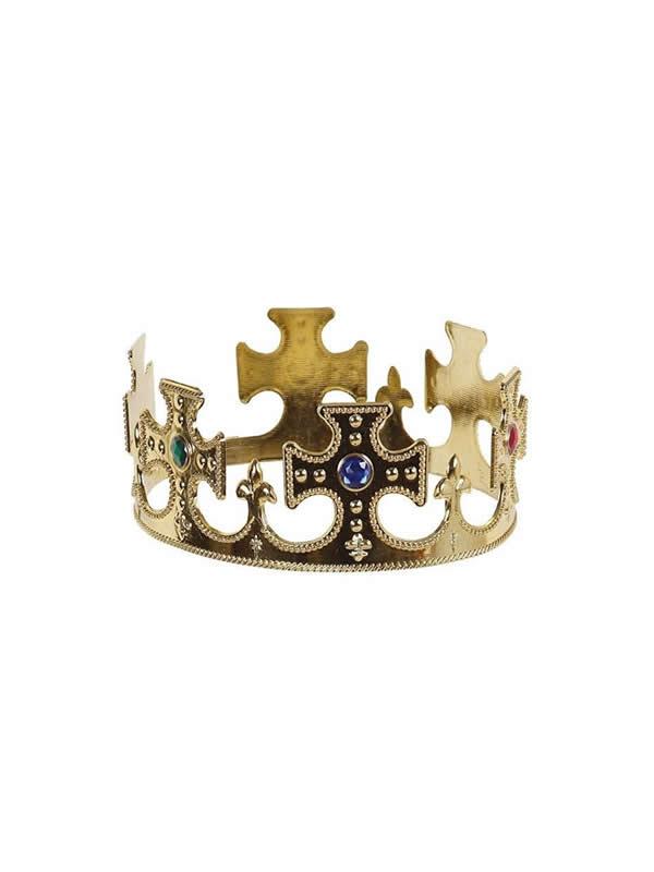 corona dorada de rey pvc