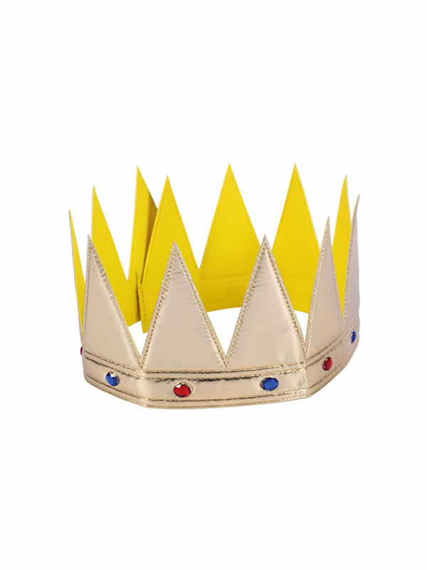 corona infantil dorada de 56x125 cm