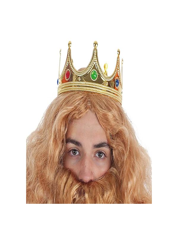 corona rey mago de color oro