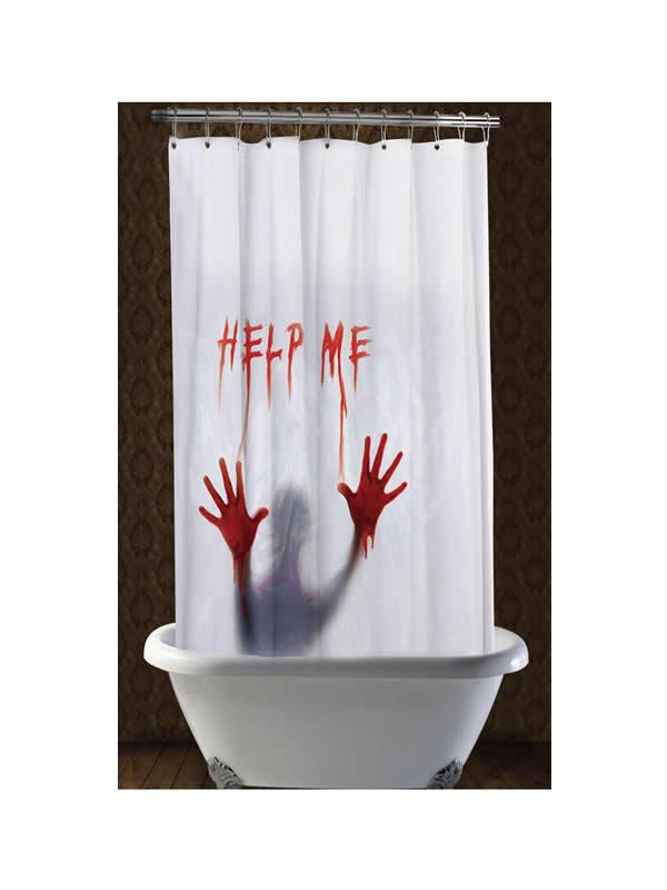 cortina de ducha help me halloween