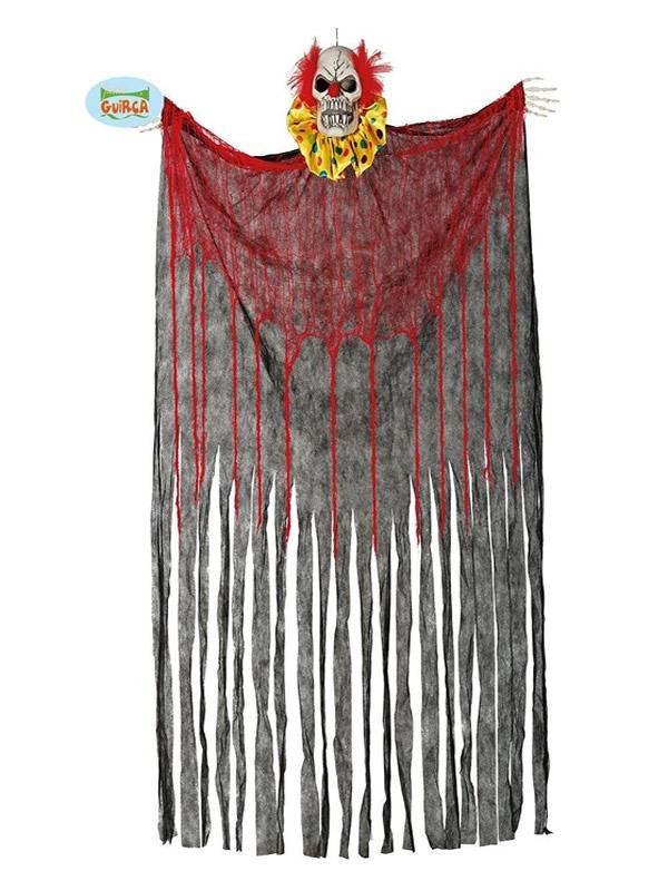 cortina de payaso con luz y sonido 180x160 cms halloween