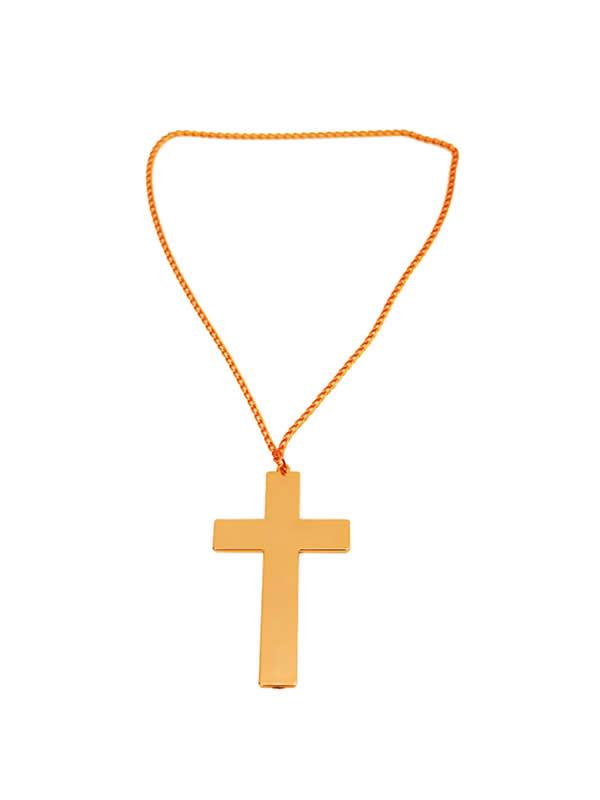 cruz de madera dorada 10x6 cm