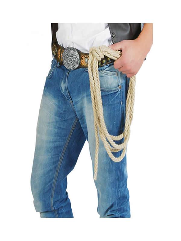 cuerda de vaquero del oeste 185 cms