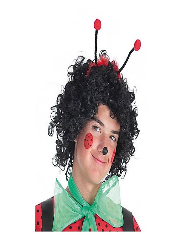 diadema con antenas mariquitas rojo