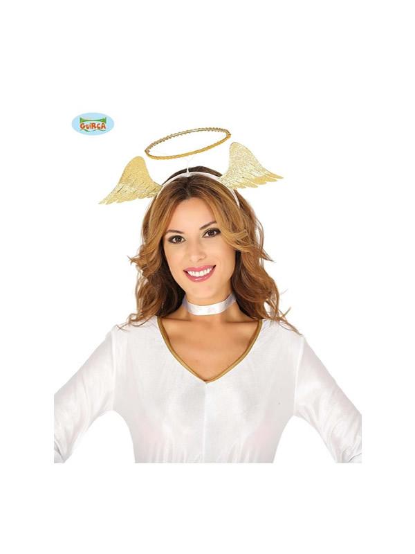 diadema de angel oro