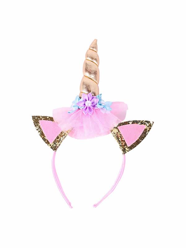 diadema de unicornio con purpurina