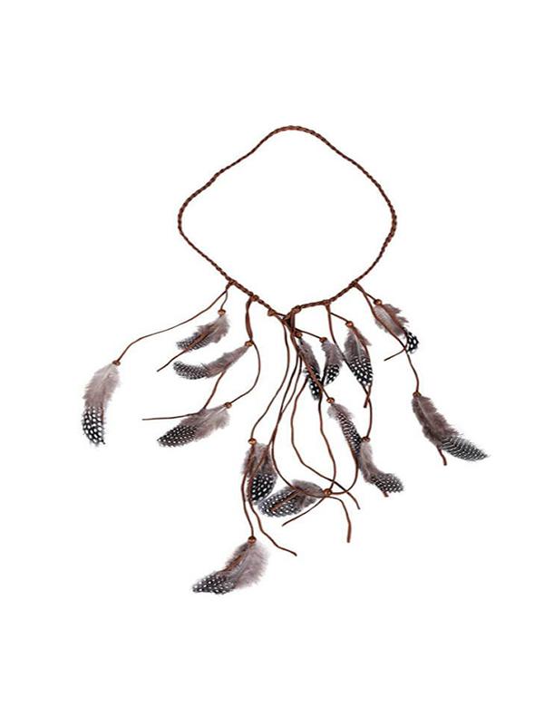diadema india con plumas de 23 cm diametro