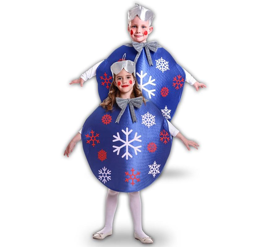 disfraz bola de navidad azul para niños