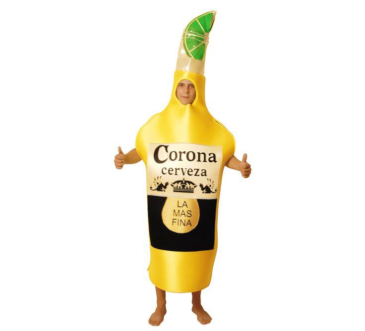 disfraz botellas cerveza coronita adulto