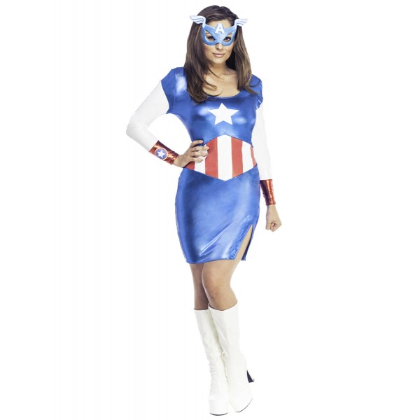 disfraz capitan america clasico para mujer