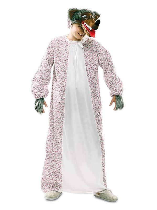 disfraz de abuela lobo para hombre