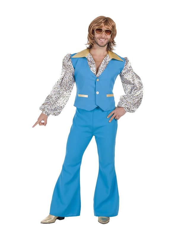 disfraz de años 70 azul para hombre