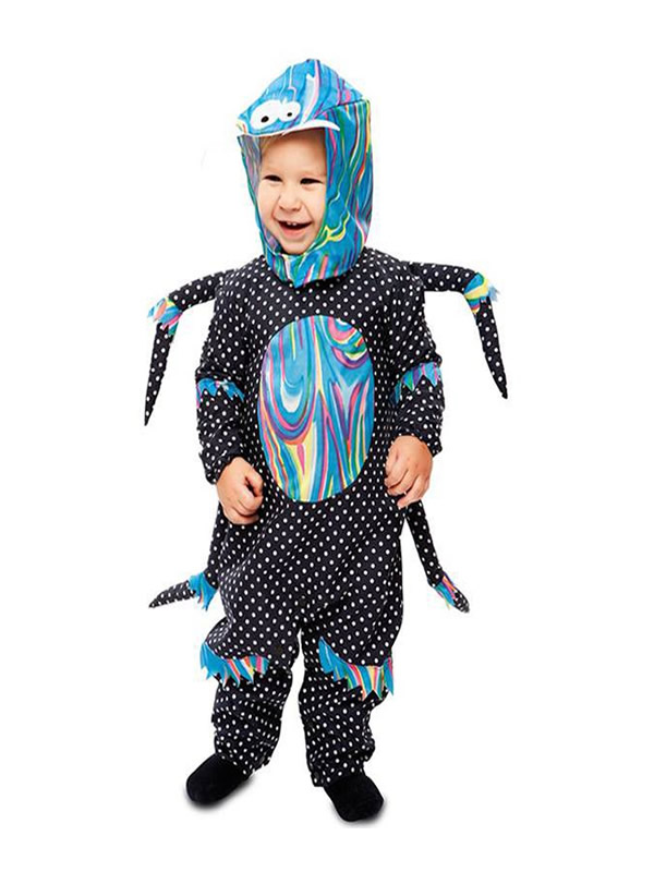 disfraz de araña multicolor para bebe