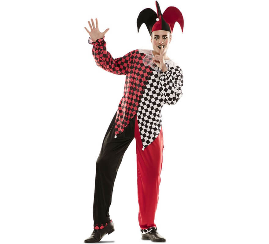 disfraz de arlequin rojo para hombre