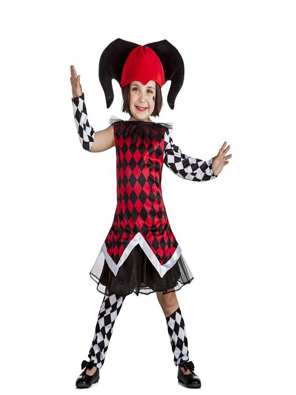 disfraz de arlequina barato para niña