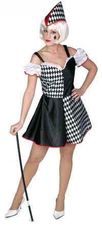 disfraz de arlequina o bufona para mujer