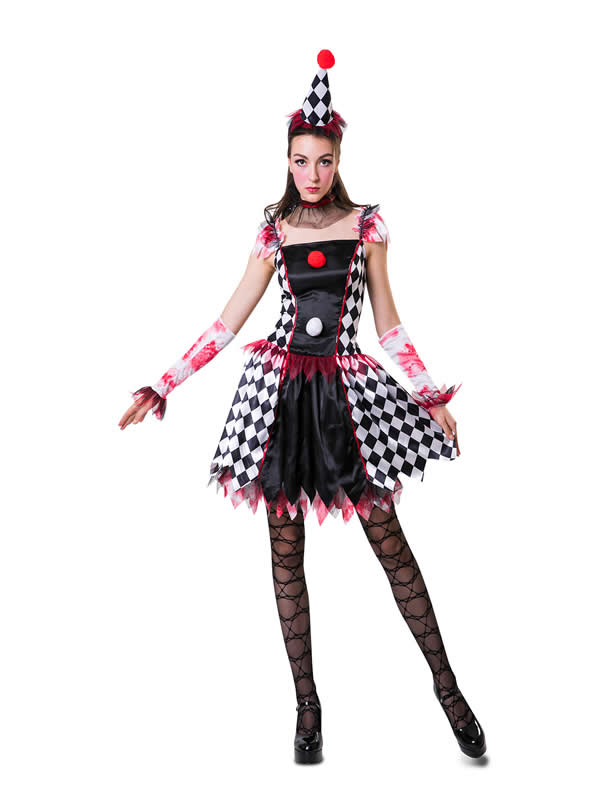 disfraz de arlequina traviesa mujer