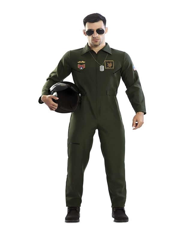 disfraz de aviador militar hombre