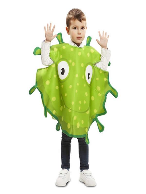 disfraz de bacteria verde para niño
