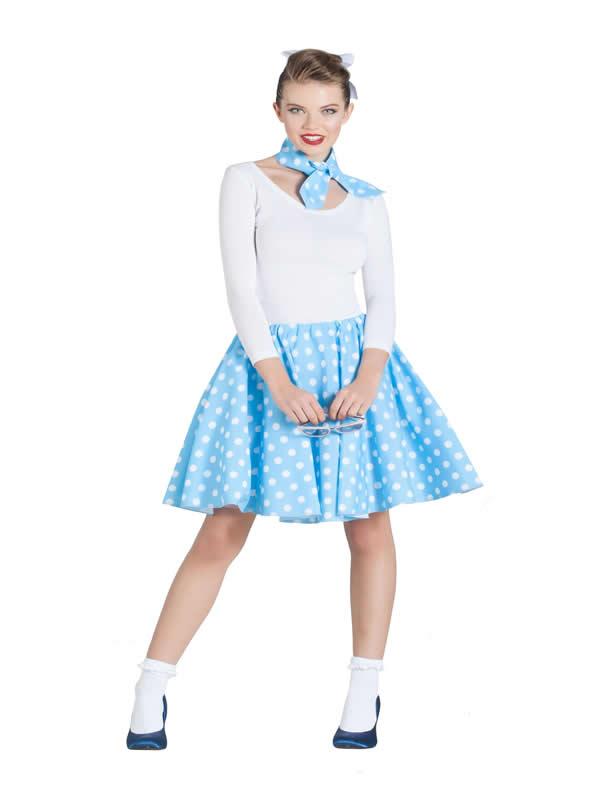 disfraz de bailarina pin up azul mujer