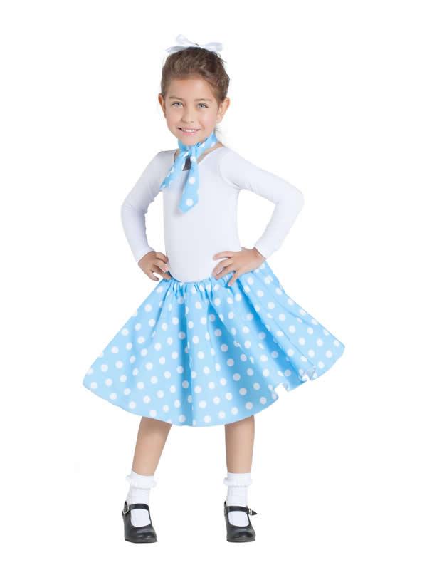 disfraz de bailarina pin up azul niña