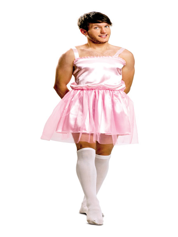 disfraz de bailarina rosa para hombre