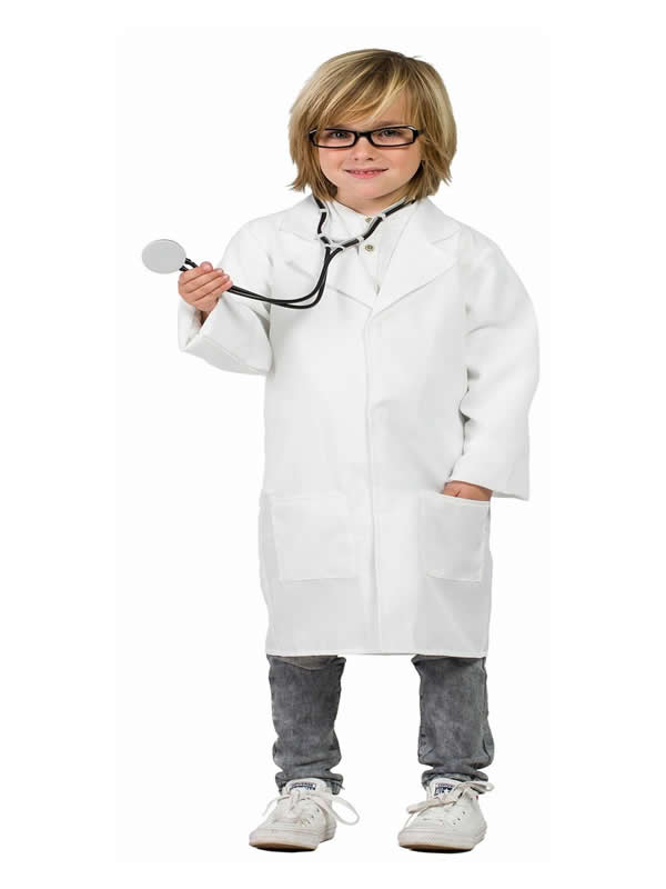 disfraz de bata doctor infantil