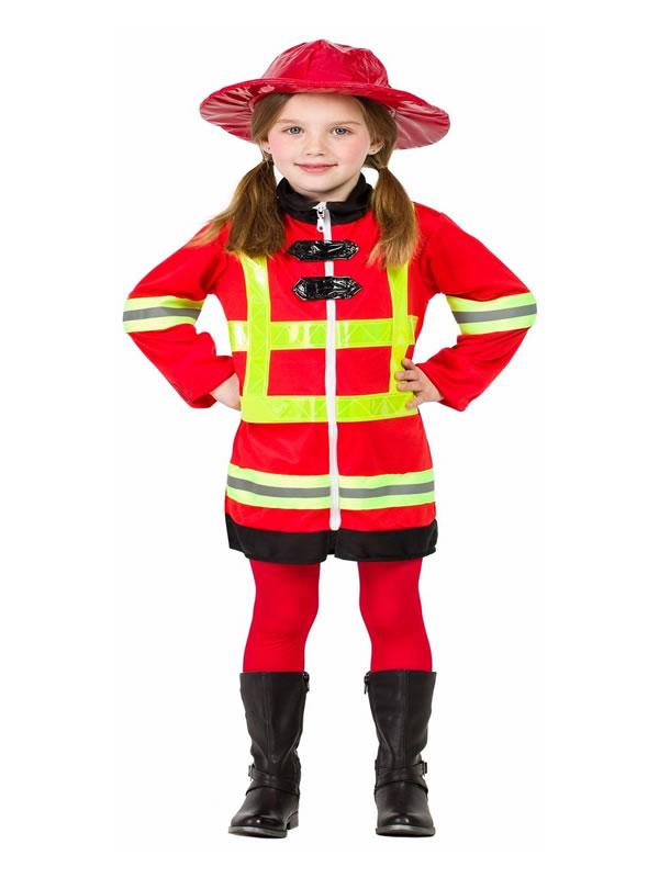 disfraz de bombera para niña