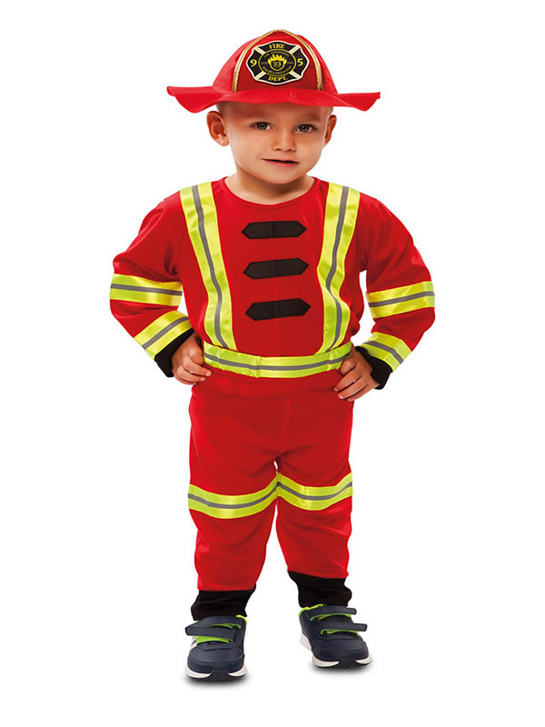 disfraz de bombero para bebe