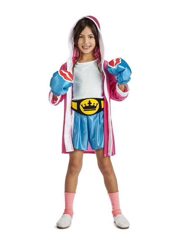 disfraz de boxeadora para nina k3534 - Los mejores disfraces en grupo infantil