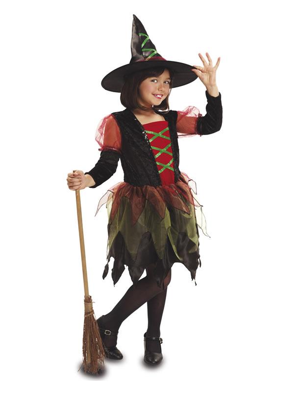 disfraz de bruja colores para niña
