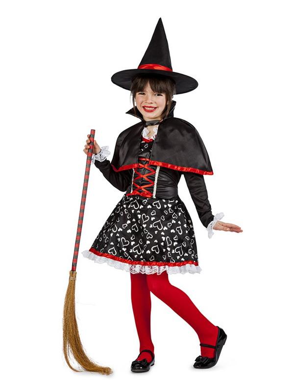 disfraz de bruja corazones nina K3859 - ¿Dónde comprar disfraces infantiles para halloween?