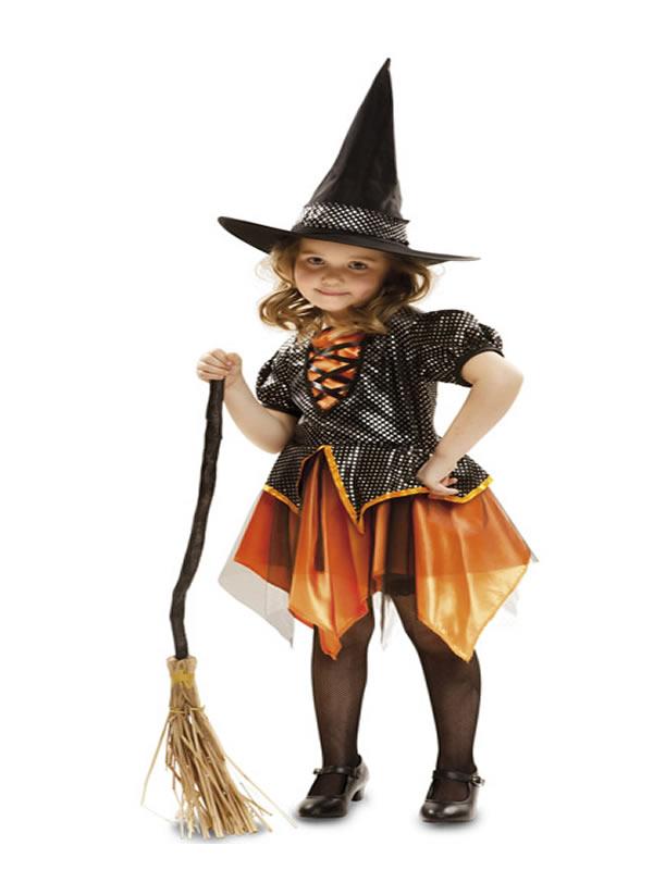disfraz de bruja dorada para niña