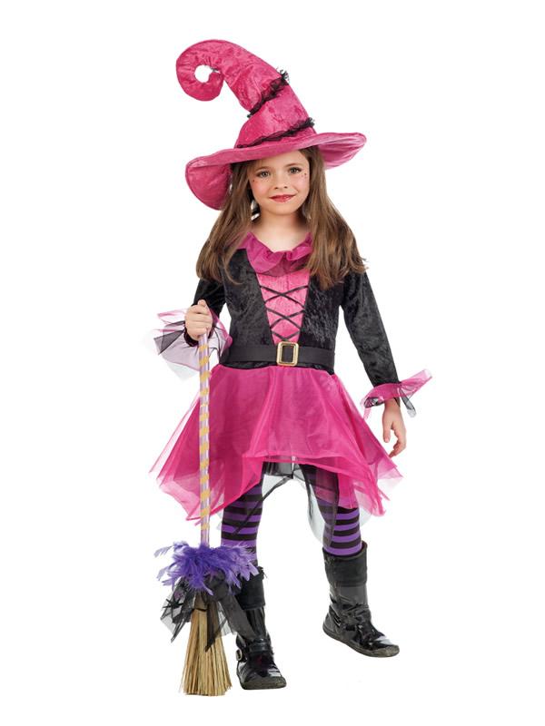 disfraz de bruja fucsia para niña, comprar barato | DisfracesMimo