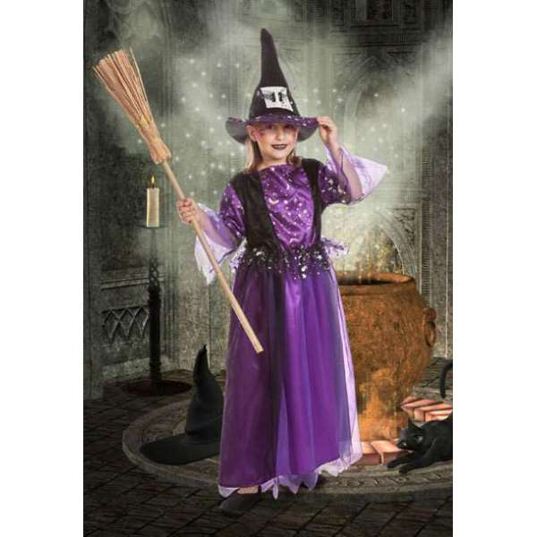 disfraz de bruja infantil para halloween