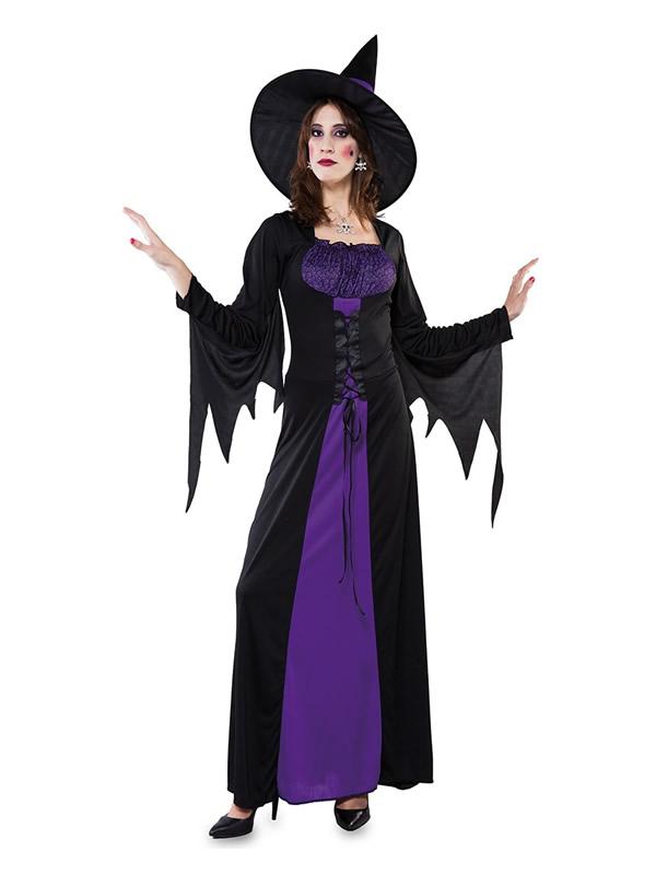 disfraz de bruja purpura para mujer