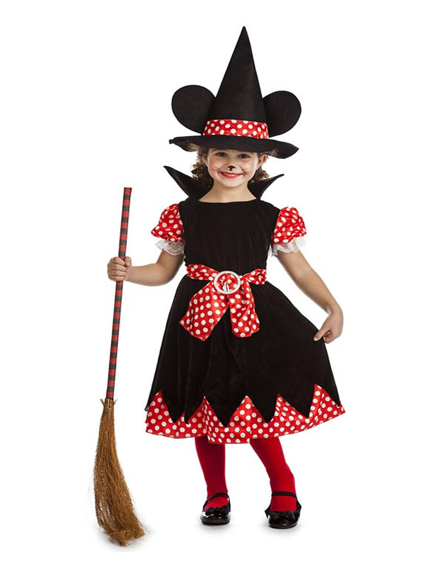 disfraz de bruja ratoncita para niña