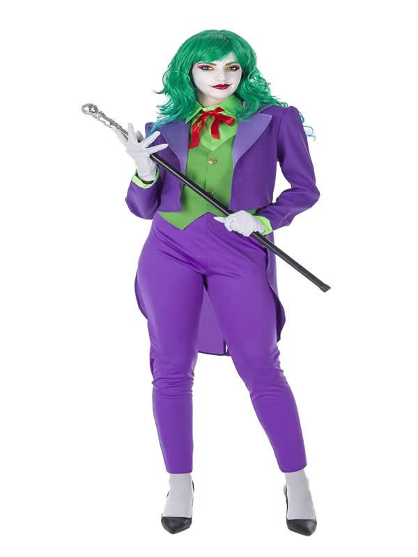 disfraz de bufon joker malvado mujer