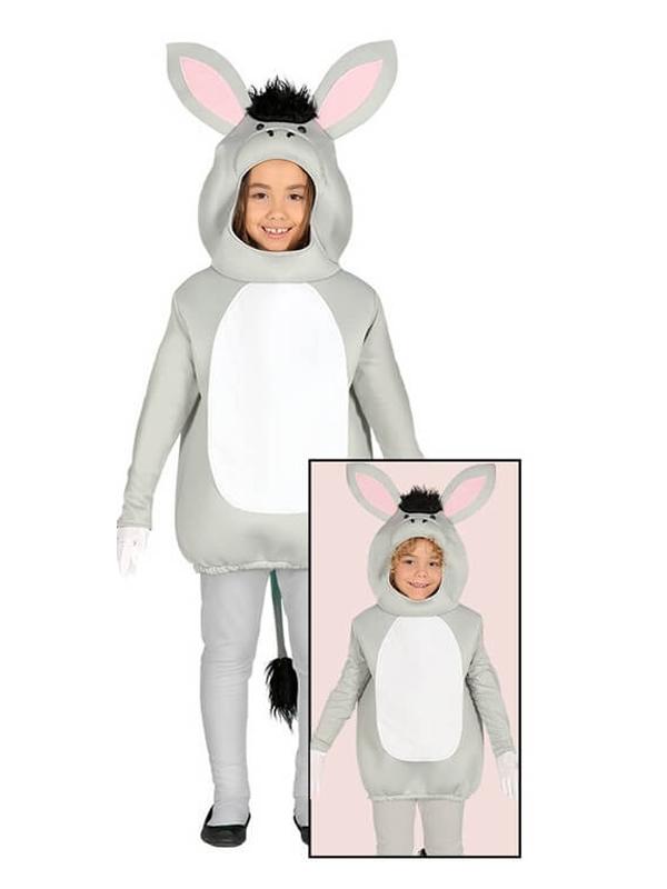 disfraz de burro gris para niño