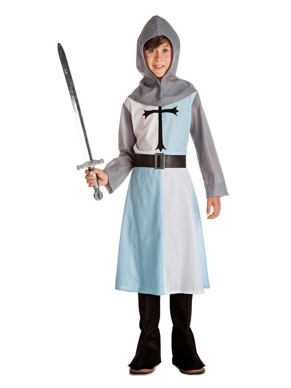 disfraz de caballero medieval azul niño