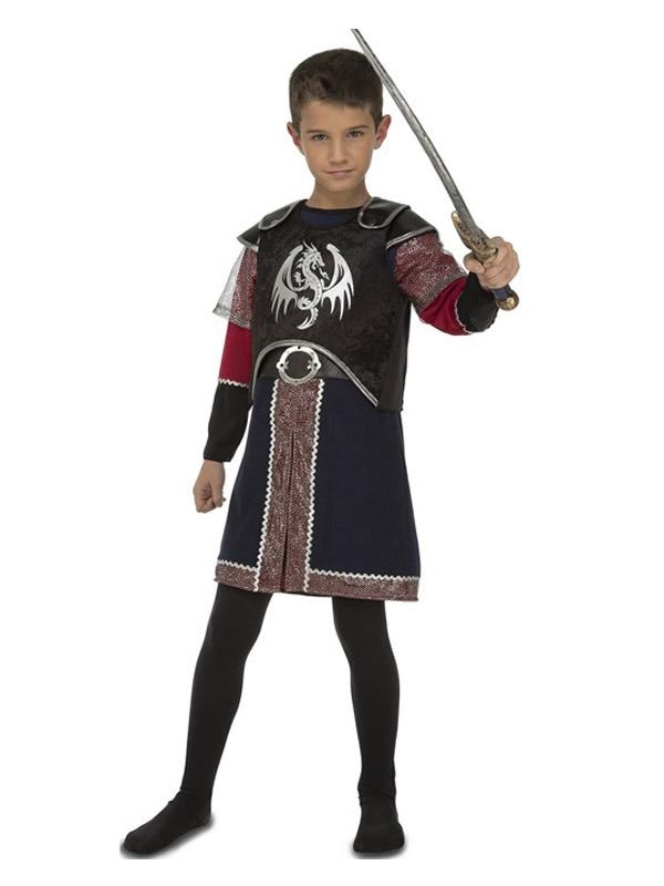 disfraz de caballero medieval de dragones niño