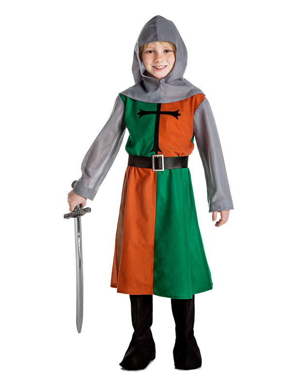 disfraz de caballero medieval verde