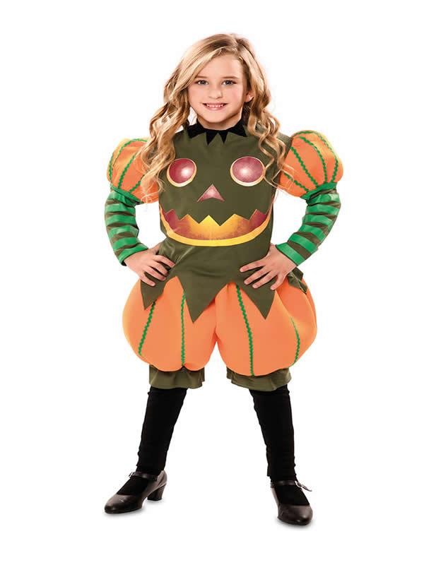 disfraz de calabaza dulce para niña