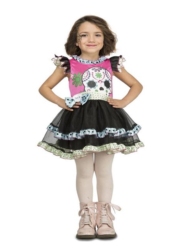 disfraz de calaverita rosa para niña